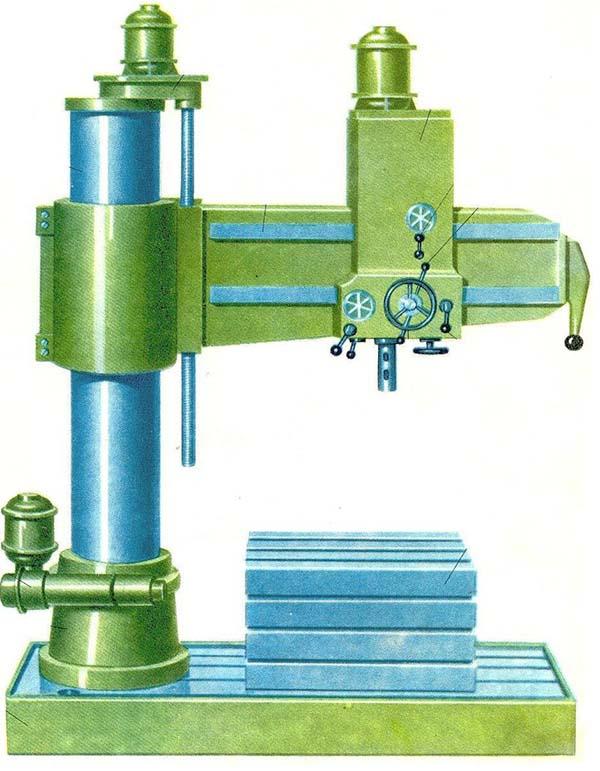 Радиально-сверлильный станок: технические характеристики настольного станка, его назначение и электрическая схема или чертеж