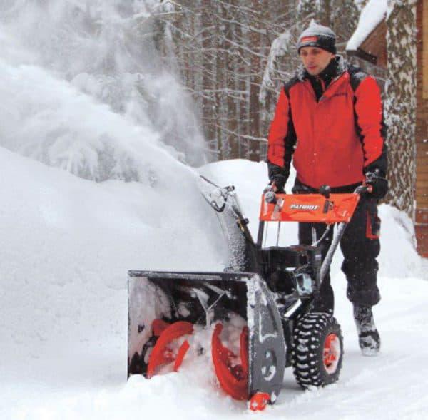 О снегоуборщике патриот (patriot): механические, бензиновые снегоуборочные машины