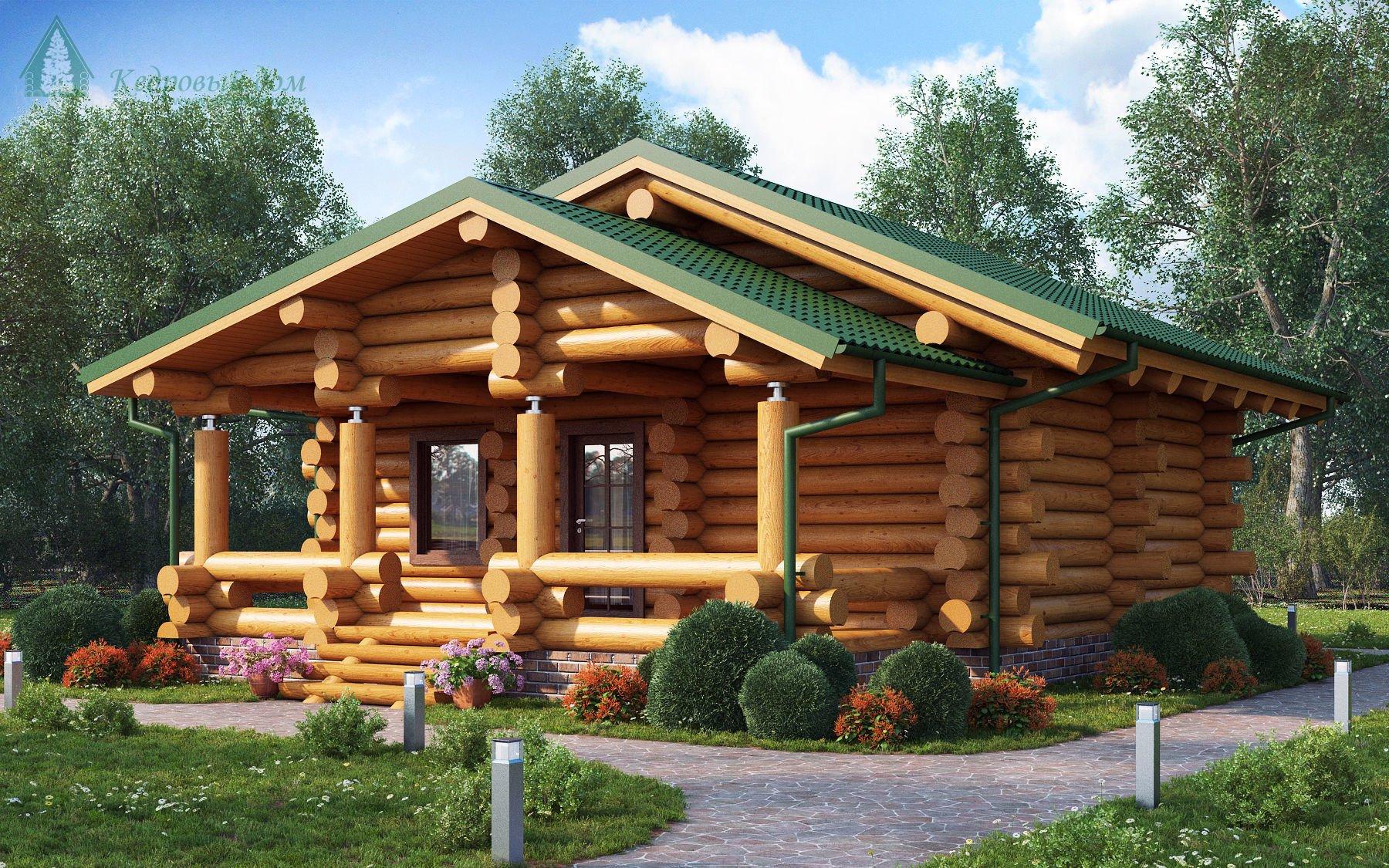 Гринсруб - срубы домов недорого под ключ - срубы домов 6 6 по привлекательным ценам
