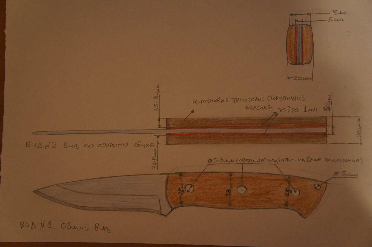 Ручка для ножа своими руками: пошаговая инструкция