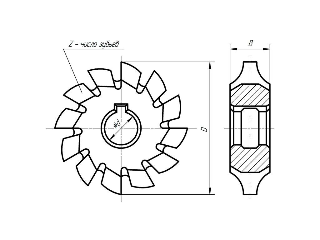 Фрезерование прямозубых цилиндрических и конических зубчатых колее
