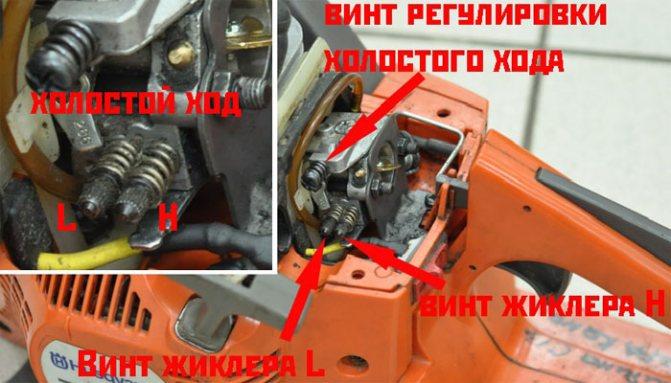 Как отрегулировать карбюратор на бензопиле хускварна