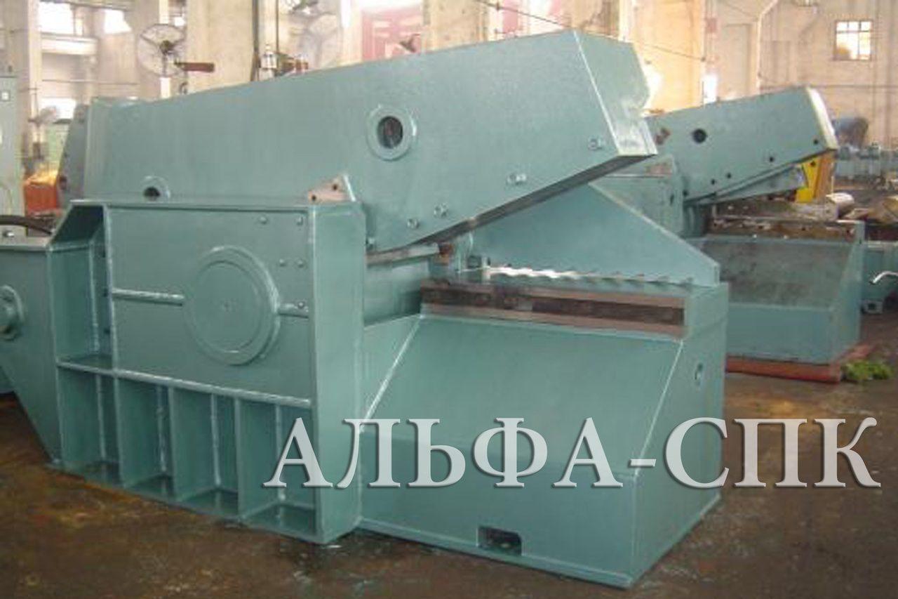 Ножницы аллигаторные (скрапные) механические модели н-315. капитальный ремонт. украина 2013