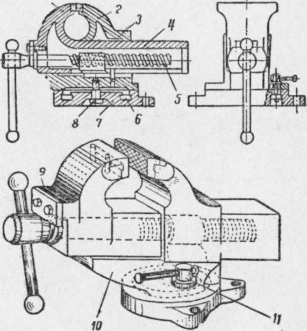 Кузнечные тиски: характеристика стуловых, параллельных, слесарных и других видов. как выбрать?