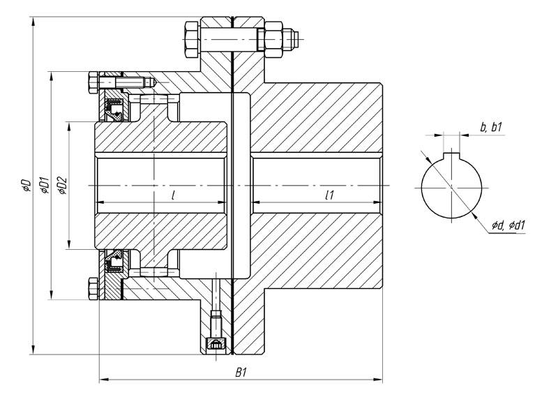 Зубчатая муфта гост, чертеж, устройство   строитель промышленник