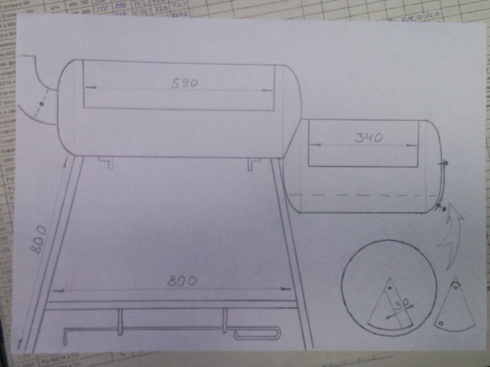 Мангал из газового баллона своими руками: чертежи с размерами, фото, видео