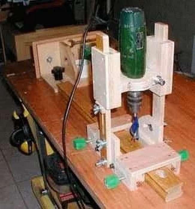 Как изготовить фрезер из дрели своими руками?