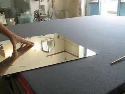 Как резать зеркало в домашних условиях