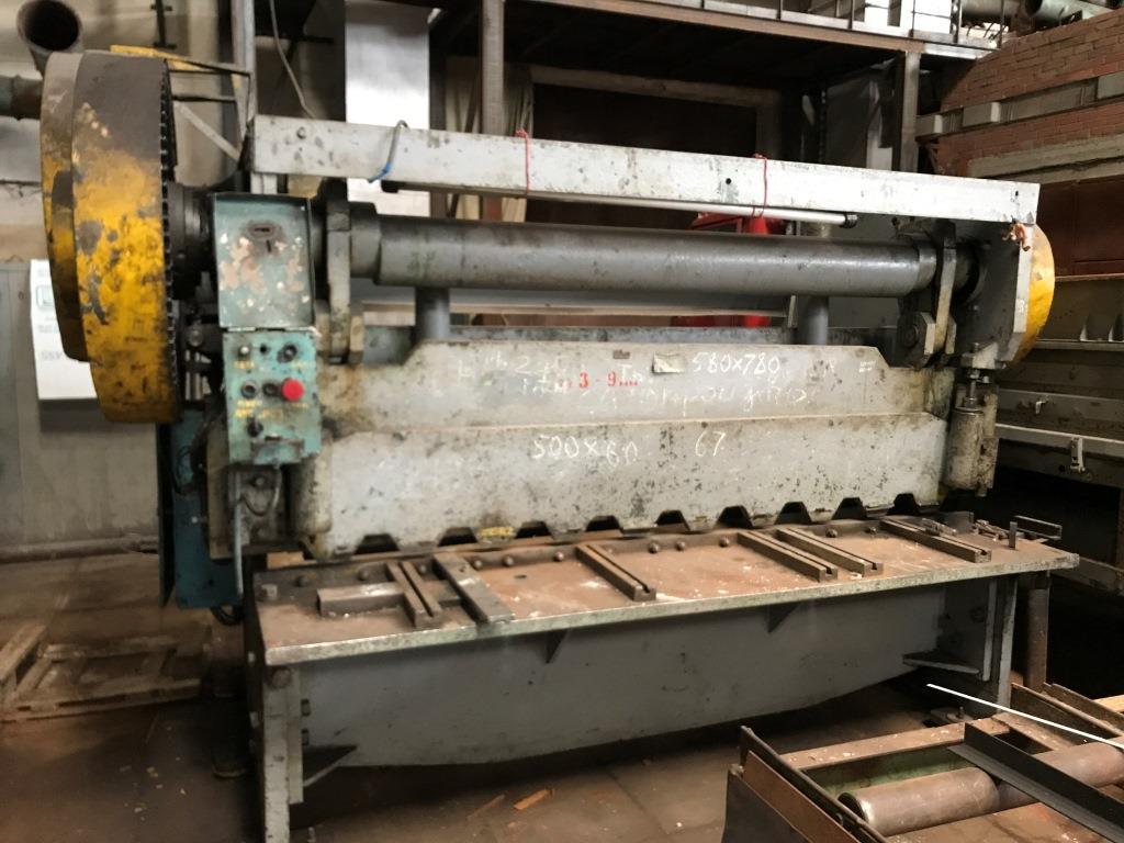 Н3118 ножницы гильотинные для листового металласхемы, описание, характеристики