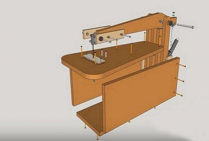 Лобзиковый станок своими руками (чертежи и видео-инструкция)