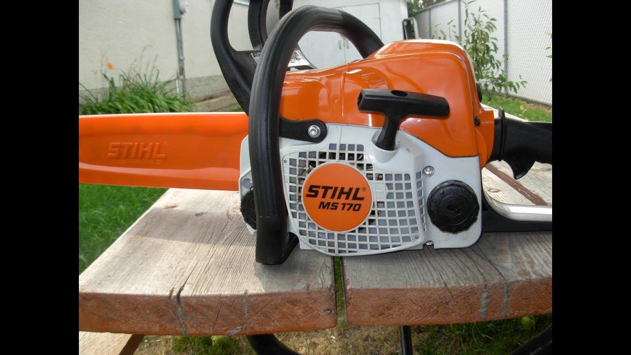 Бензопила stihl ms 170 - описание модели, характеристики, отзывы