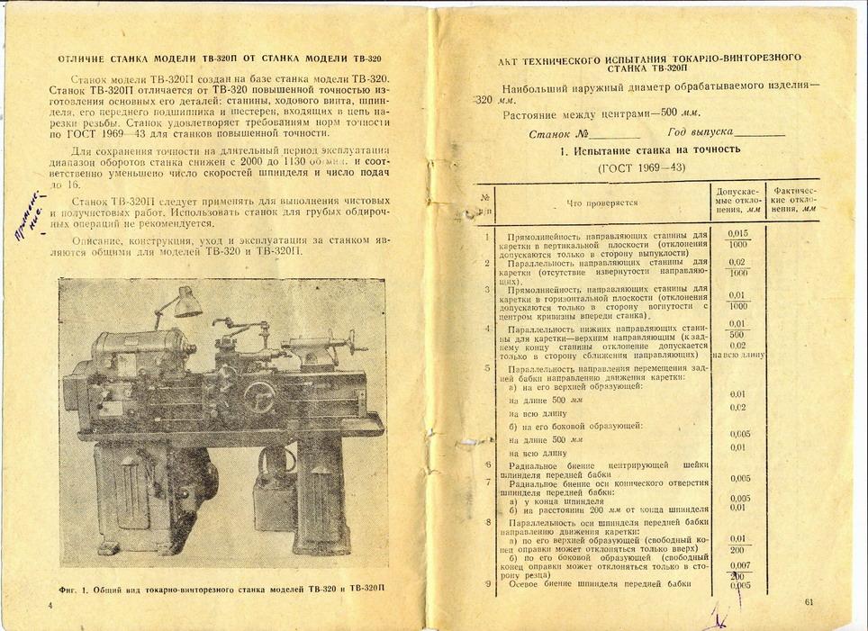 Токарный станок тв-6: технические характеристики