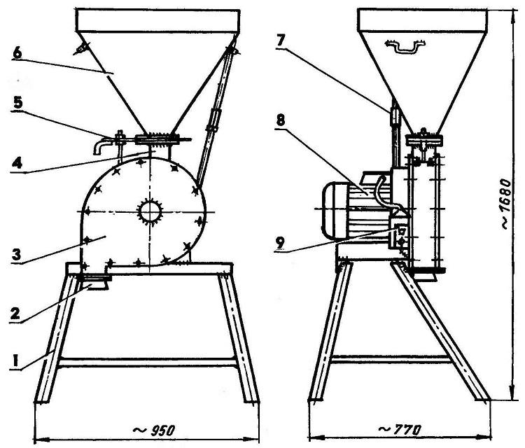 Как сделать зернодробилку своими руками. чертежи, фото, видео