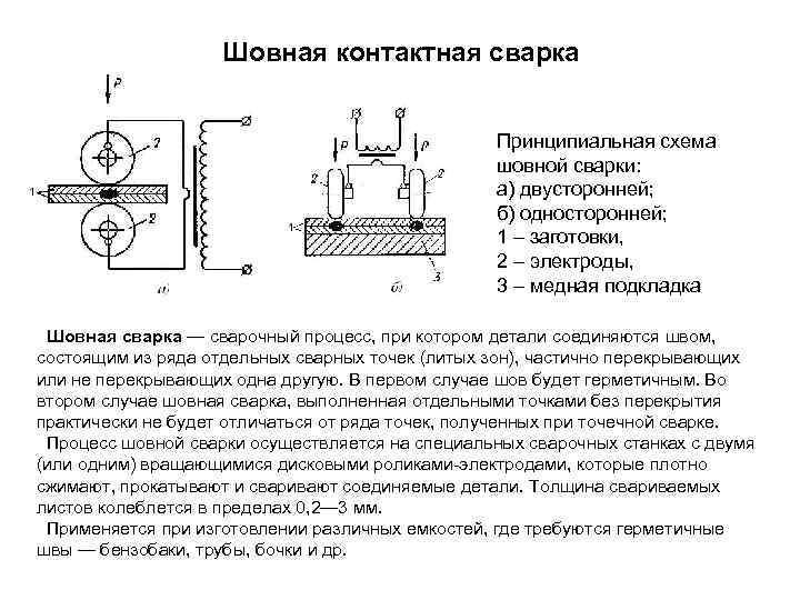 Шовная (роликовая) контактная сварка: технология, область применения, оборудование