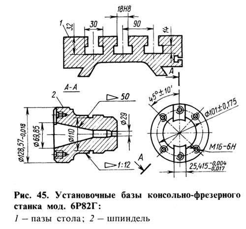 Станок фрезерный 6р82 технические характеристики