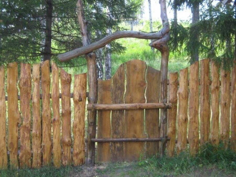 Забор из горбыля своими руками