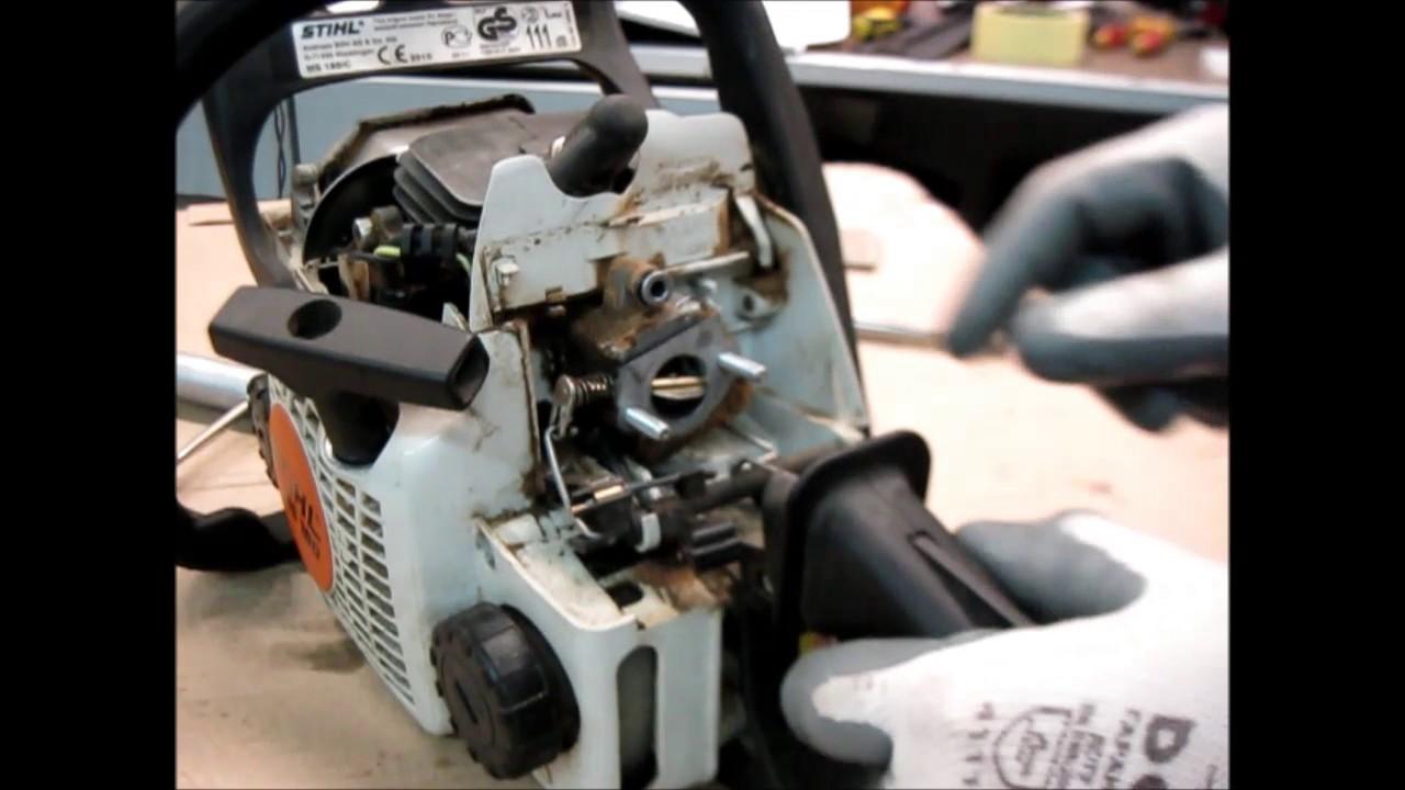 Устранение неисправностей на бензопиле stihl 180 - фотоотчет