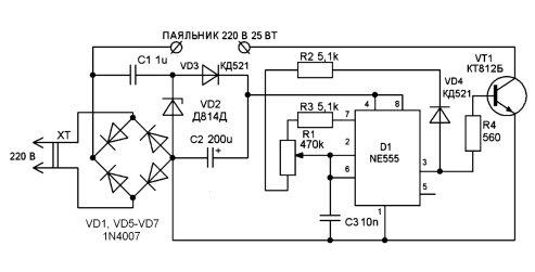 Паяльник с терморегулятором: конструктивные особенности