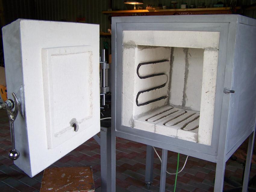 Муфельная печь для обжига керамики своими руками - о металле