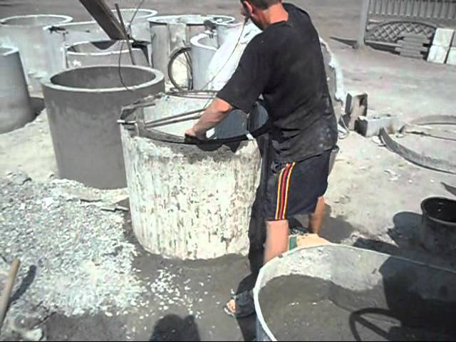 Способ литья бетона для изготовления бетонных изделий