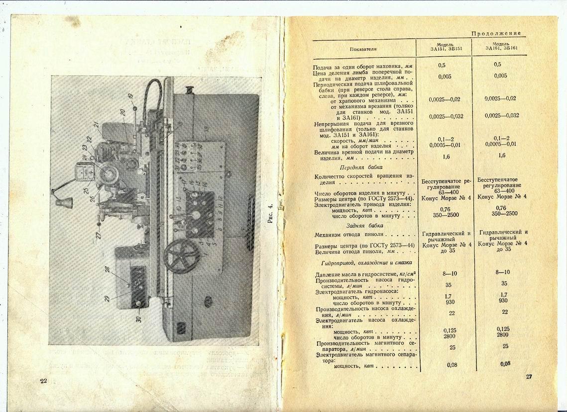 124988 (круглошлифовальный станок модели 3м151) » студизба