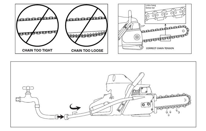 Цепи для бензопил — смазка, заточка, натяжка, типы, укорачивание