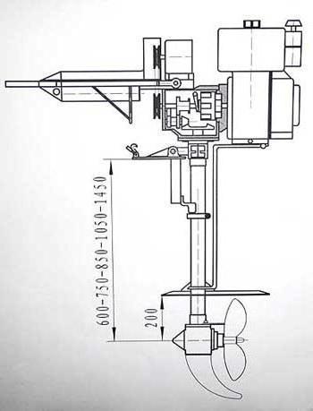 Как сделать лодочный мотор из бензопилы своими руками?