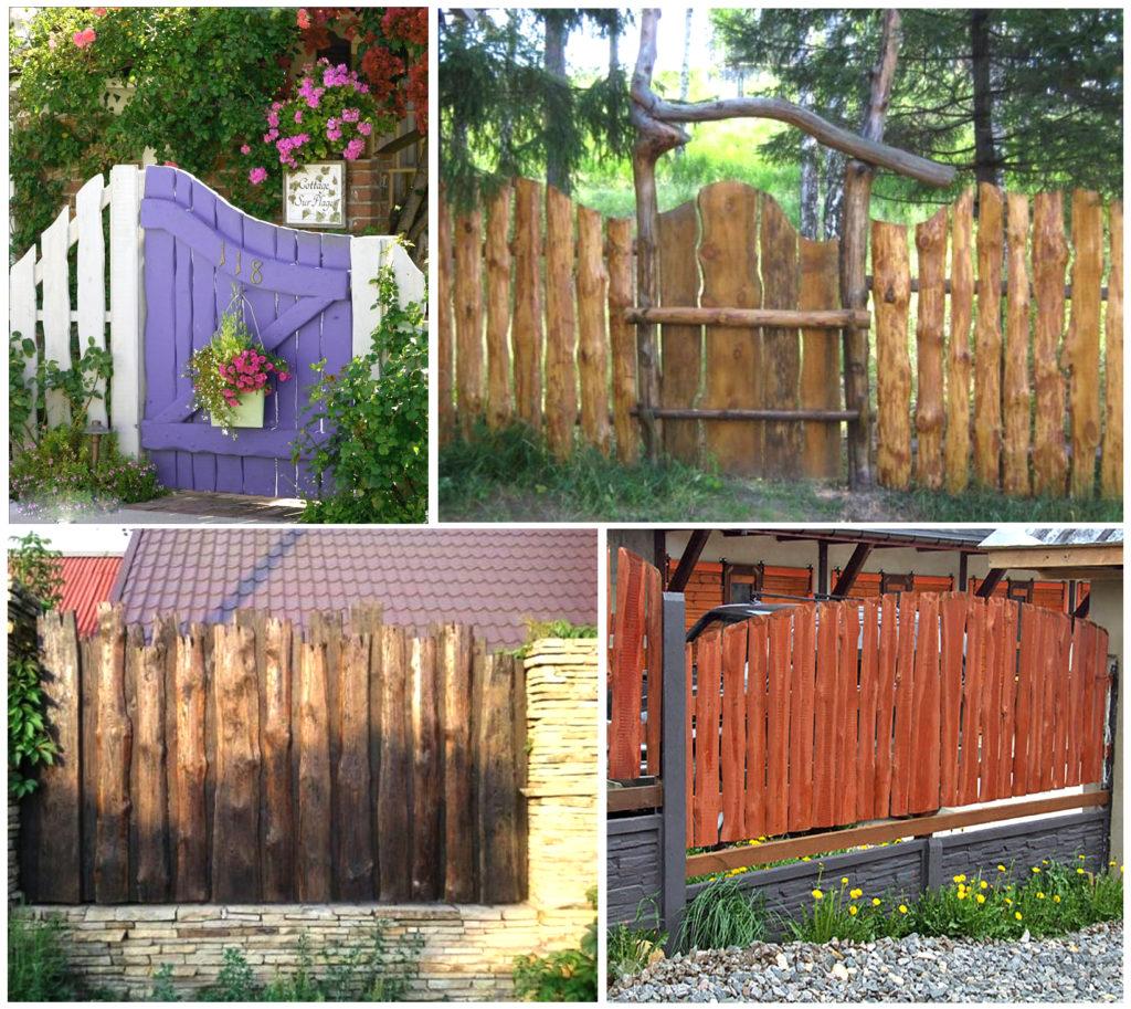 Забор из горбыля (59 фото): все варианты использования необрезной доски, красивый деревянный забор