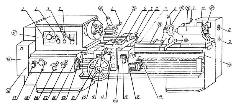 1615 станок токарно-винторезный универсальный. паспорт, схемы, характеристики, описание