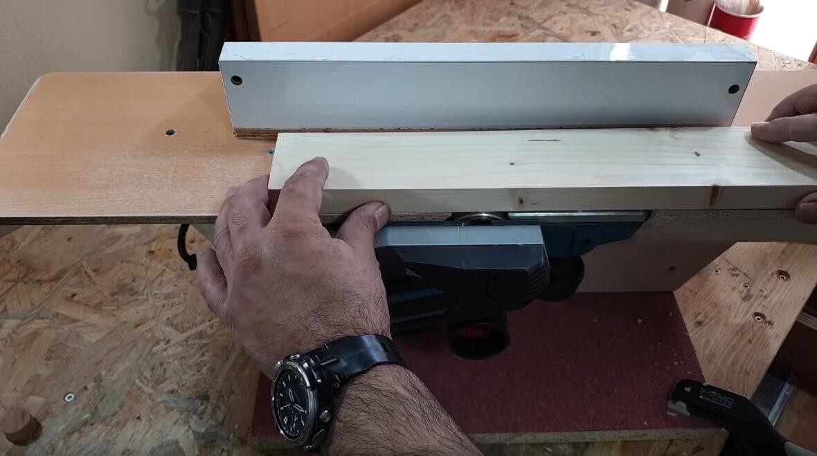 Процесс изготовления компактного фуганка из простого электрического рубанка. - статья - журнал