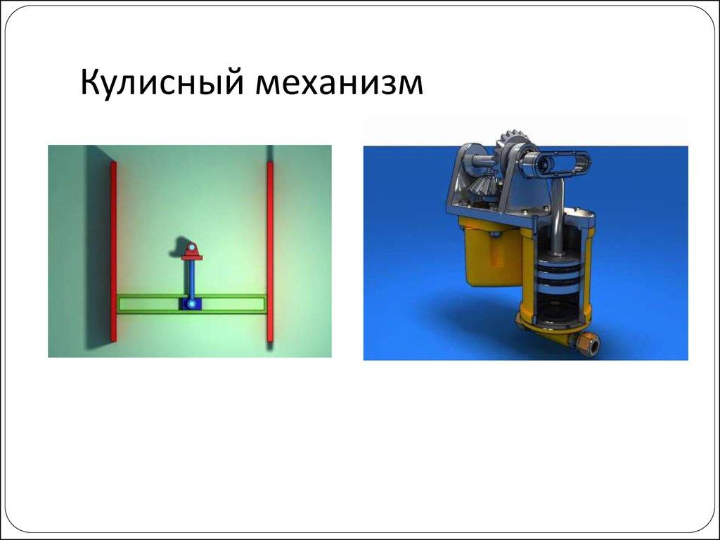 Где используется механизм кулисный?