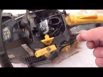 Что делать, если бензопила глохнет при нажатии на газ