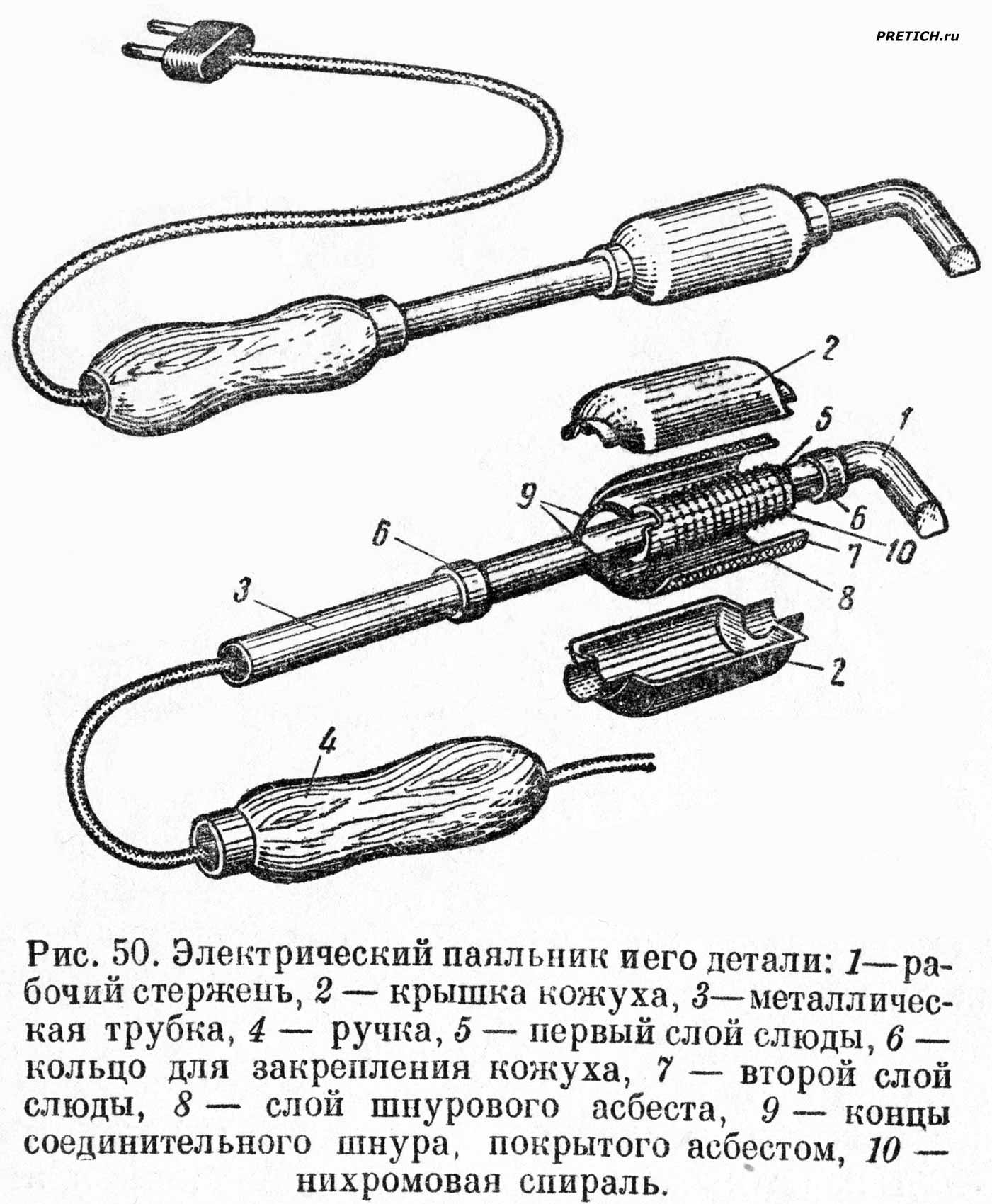 Устройство и ремонт паяльника