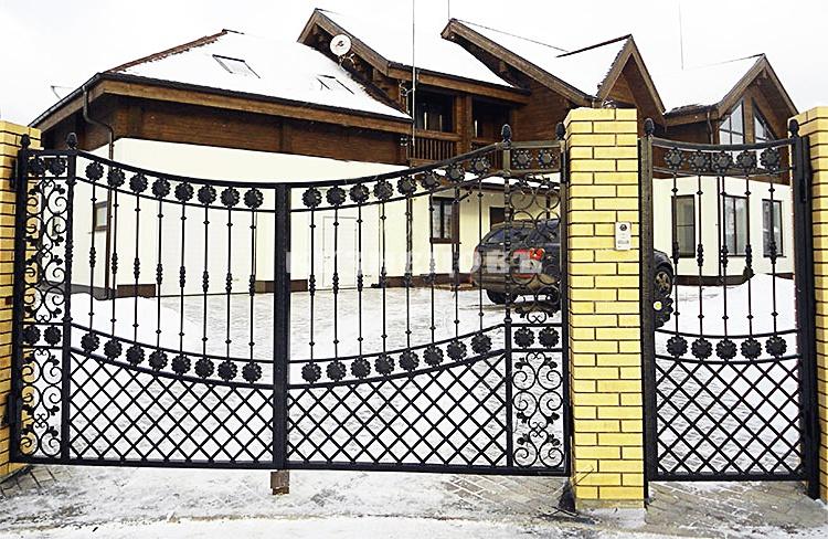 Статья: как сделать кованые калитки в воротах своими руками: фото и эскизы