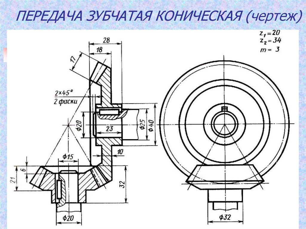 Конструирование зубчатых колес
