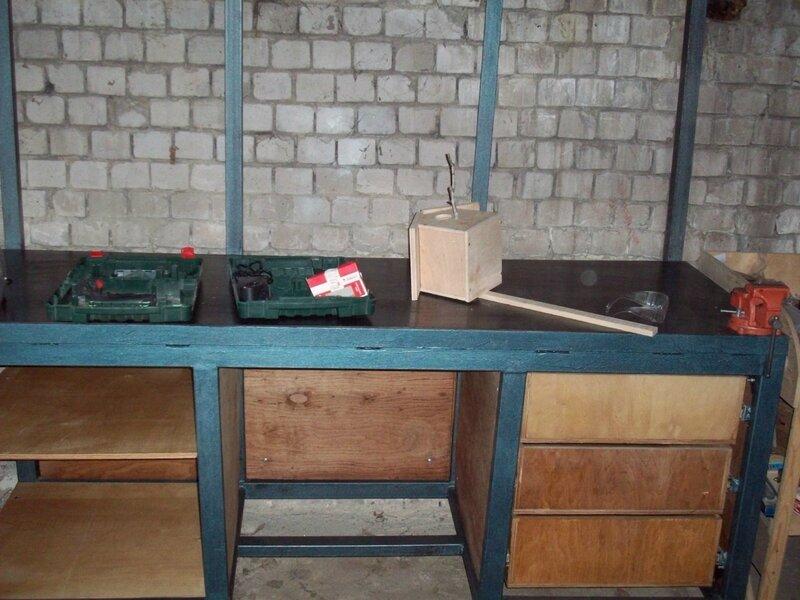 Верстак в гараж своими руками - оптимальные размеры, как сварить, инструкция с фото