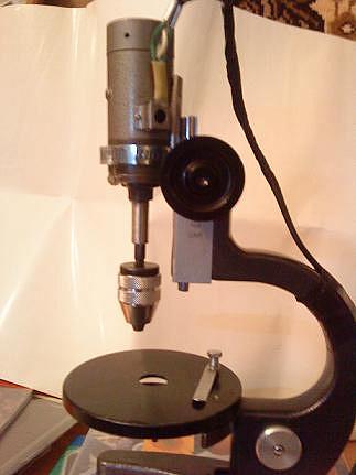 Стойка для дрели из фотоувеличителя - о металле
