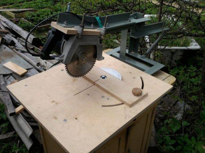 Циркулярка своими руками, сделанная из дисковой пилы или болгарки: ручной мини-станок и стационарная конструкция