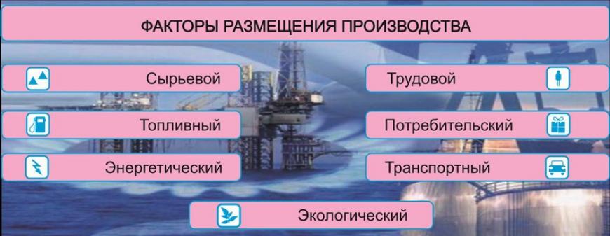Факторы размещения химической промышленности