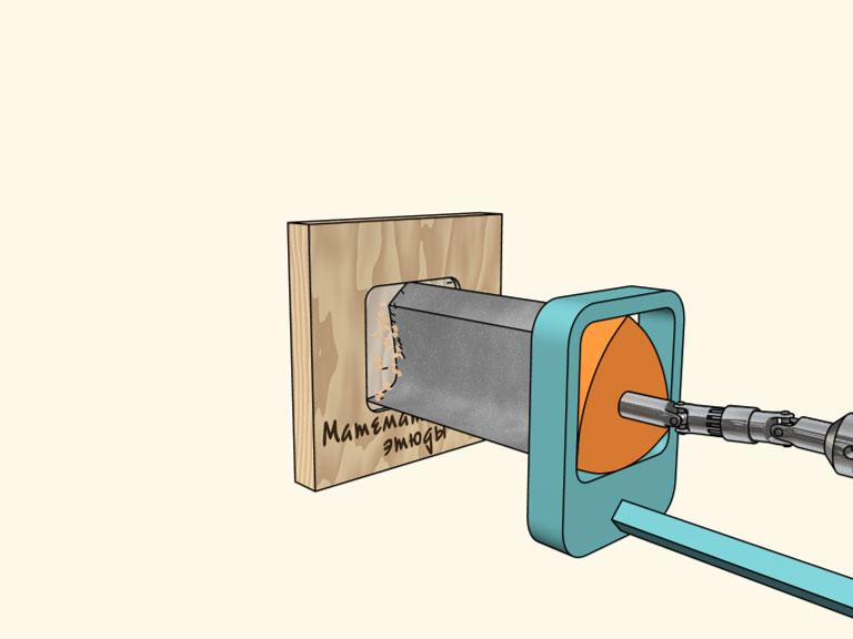 Сверлением квадратных отверстий специальным сверлом