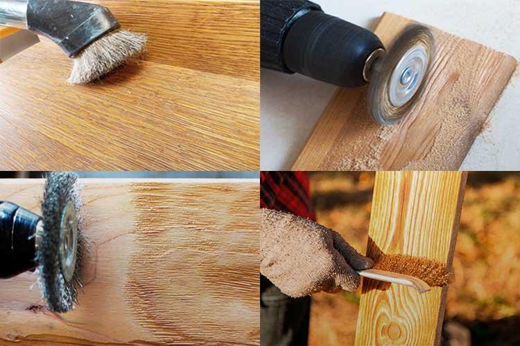 Браширование древесины своими руками: 45 фото освоения техники