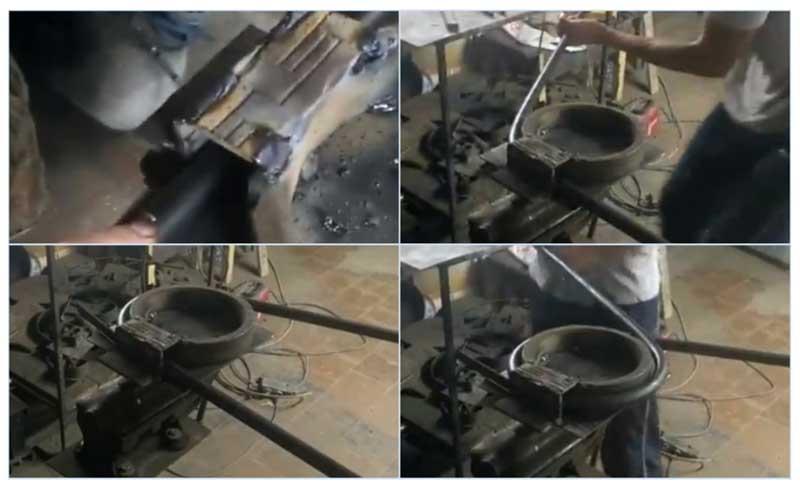 Гибка алюминиевых труб с помощью трубогиба и подручных средств