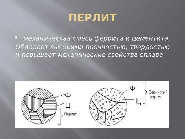 Какие свойства характерны для цементита
