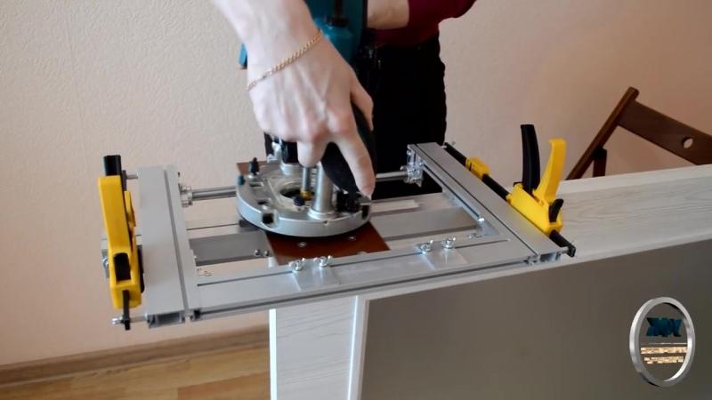 Приспособление для врезки петель фрезером: создание шаблона