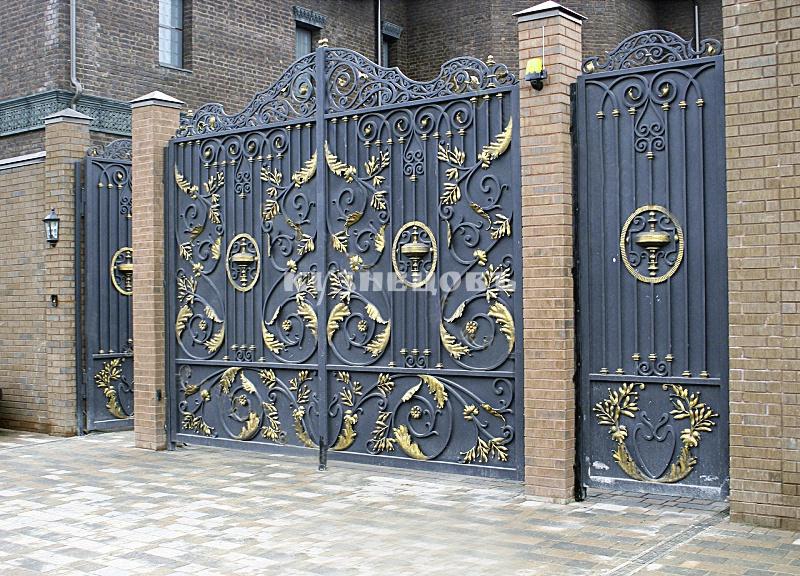 Кованные ворота своими руками. +259 фото. мастер классы.