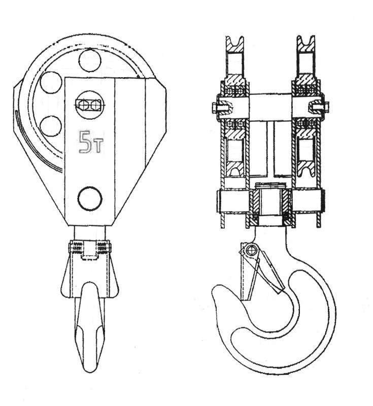 Полиспасты и крюковые подвески