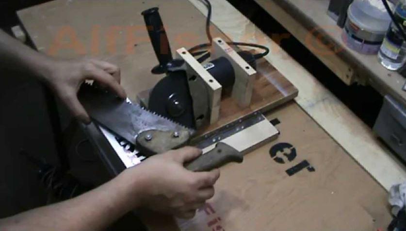 Как наточить ножовку