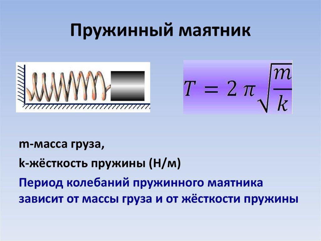 Пружинный маятник период и амплитуда колебани1, формула, жесткость | строитель промышленник