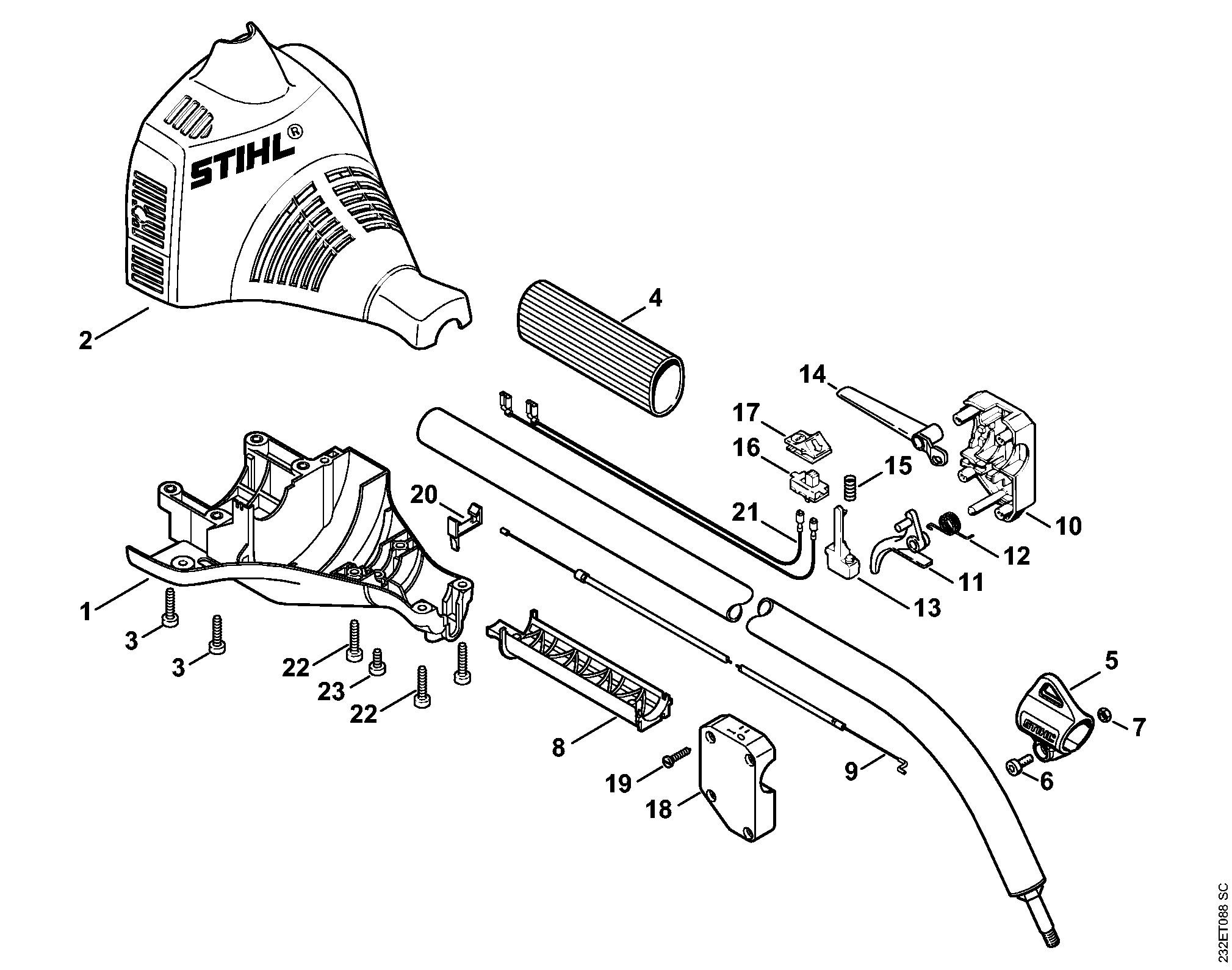 Как разобрать триммер штиль fs 55