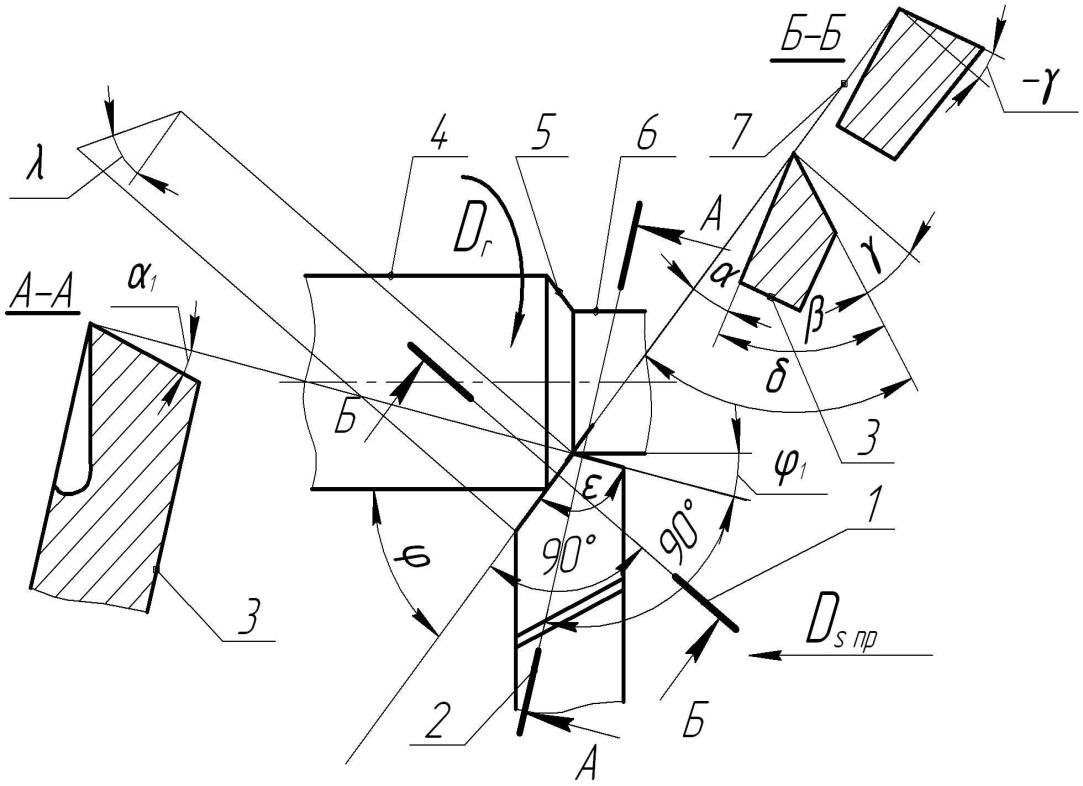 Резец расточной токарный
